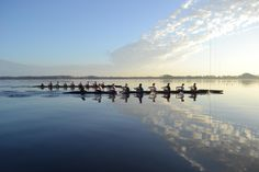 Beautiful day for practice Women's Rowing, Rowing Team, Beautiful Day, Beach, Water, Outdoor, Gripe Water, Outdoors, The Beach