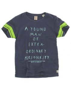 Scotch and Soda Shrunk jongens - T-shirt tekst paars