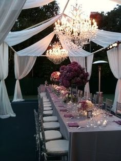 Classy idea for a backyard engagement party                                                                                                                                                                                 More