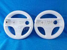 Lot of 2 Genuine Nintendo Wii Racing Steering Wheel White RVL-024 Oem FreeShip #Nintendo