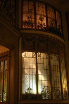 Art nouveau interior windows - Sokleine  I'd love to have these in my master bath.