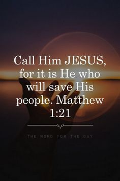 """thewordfortheday: Do you know that no one except Jesus Christ can save your soul? The Holy Bible says, """"Neither is there salvation in any other: for there is none other name under heaven given among men, whereby we must be saved."""" (Acts 4:12) Jesus said to him, """"I am the way, and the truth, and the life; no one comes to the Father but through Me.John 14:6 Only Jesus saves! He is the Author and Giver of life, natural, spiritual, and eternal!"""