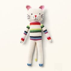 Crochet toys from ANN-CLAIRE PETIT are designed in The Netherlands and produced in developing countries with respect for the local people. They are handmade. Hand Crochet, Crochet Toys, Home Deco, Claire, Organic Cotton, Cats, Handmade, Design, Amigurumi