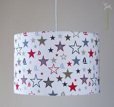 Lampe Kinderzimmer Starlight Weiß Sterne von bartienes Textilmanufaktur auf DaWanda.com