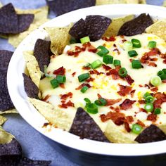 This chipotle bacon corn cheese dip recipe is for cheese lovers. Baked in the oven with three different types of cheese, it's creamy and delicious!