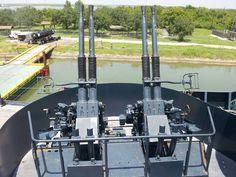 """""""USS TEXAS"""" (BB-35) is a New York Class Battleship – Secondary Armament, 4 of 44 x 40mm Bofors AA Guns ( 10 x Quad Mounts)"""