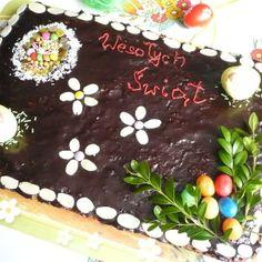 Mazurek migdałowo – czekoladowy Desserts, Food, Tailgate Desserts, Deserts, Meals, Dessert, Yemek, Eten, Food Deserts