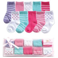 $9.99 Luvable Friends 10-Piece Baby Socks Gift Set, Pink, 0-9 M... https://www.amazon.com/dp/B003ZZ8Q1W/ref=cm_sw_r_pi_dp_9XlyxbDS5T9NW