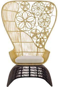 "CC044 ""Crinoline High Back Chair"" by Patricia Urquiola"