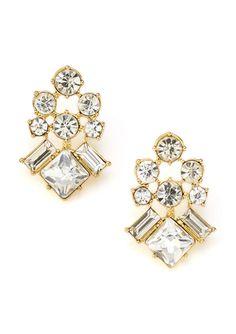 STELLA & RUBY Crystal Rhinestone Drop Earrings