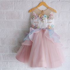 Buy Pink Princess Dress for Girls Birthday Party Costume Children Wedding Formal Wear Girls Lovely Unicorn Dresses at Wish - Shopping Made Fun Baby Girl Dresses, Baby Dress, Girl Outfits, Flower Girl Dresses, Baby Girls, Kids Girls, Jean Outfits, Birthday Dresses, Wedding Party Dresses