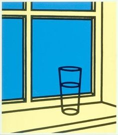 Patrick Caulfield 'Oh Helen, I roam my room' From Some Poems of Jules Laforgue 1973 Screenprint on paper Pop Art, Outline Art, Ligne Claire, 3d Laser, Arte Popular, Photorealism, Everyday Objects, Art Design, My Room