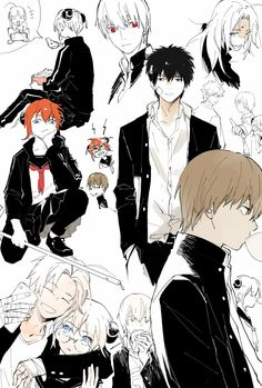 Manga Art, Anime Manga, Anime Art, Anime Boy Hair, Anime Guys, Anime Comics, Gintama Wallpaper, Anime Group, Okikagu