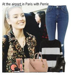 """""""At the airport in Paris with Perrie"""" by irish26-1 ❤ liked on Polyvore featuring BEA, MICHAEL Michael Kors, Steve Madden and LORAC"""