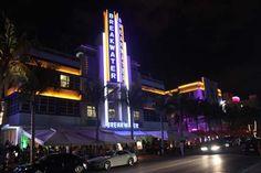 Ocean Drive bei Nacht, Miami