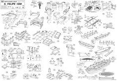 Quinze marins sur le bahut du mort...: Plan San Felipe 2ème partie Model Ships, Coast Guard, Model Building, Sailing Ships, Woodworking Projects, Concept Art, Boat, Photos, How To Plan