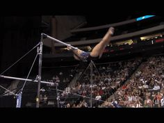Shawn Johnson gif. 2011 Visa Championships Day 1 Bars double layout dismount #gymnastics #comeback