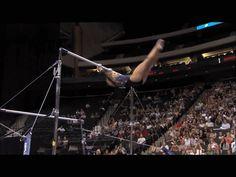 Shawn Johnson gif. 2011 Visa Championships Day 1 Bars double layout dismount #gymnastics #comeback