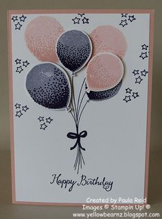 Yellowbear Stampin: Up, up and away with Balloon Celebration