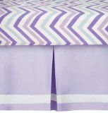CoCaLo Mix & Match Pleated Dust Ruffle, Violet (Discontinued by Manufacturer) Little Miss Matched, Lavender Bedding, Best Crib, Dust Ruffle, Crib Skirts, Candy Stripes, Crib Bedding Sets, Kids Store, Girl Nursery