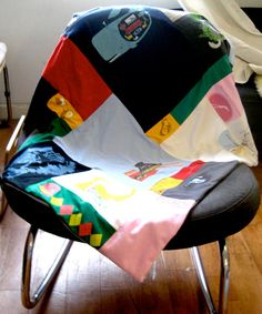 Make a recycled t-shirt quilt to preserve those memories.