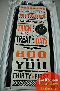 Trick or treat countdown :: Tatertots and Jello