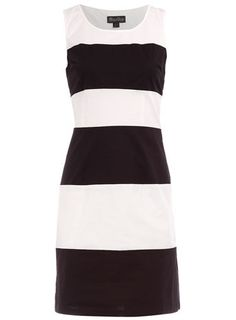 Dorothy Perkins  Black/cream stripe dress $12
