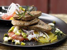Kalbsfilet sizilianische Art - smarter - auf Orangen-Grapefruit-Salat. Kalorien: 585 Kcal | Zeit: 45 min. #summer