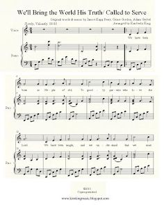 FREE LDS sheet music. Missionary Medley- We'll Bring the World His Truth/ Called to serve. #MormonLink.com #Missionaries