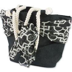 Black Burlap Tote  #bag #tote #palmetto #black #sc