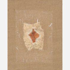 Arthur Luiz Piza<br>Relevo em papel japonês sobre linho.<br>35 x 27 cm.