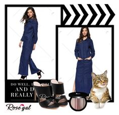 """""""Blue dress 14."""" by sajra-de ❤ liked on Polyvore featuring Edward Bess"""