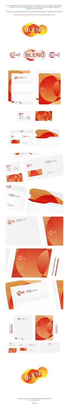 Blend logo and corporate identity design by Utopia Branding Agency
