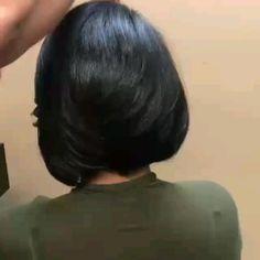 New Bob Haircuts 2019 & Bob Hairstyles 25 Bob Hair Trends for Women - Hairstyles Trends Bobs For Thin Hair, Short Hairstyles For Thick Hair, Medium Bob Hairstyles, Hairstyles Haircuts, Short Hair Cuts, Layered Bob Hairstyles For Black Women, Girl Haircuts, Pixie Cuts, Bridal Hairstyles