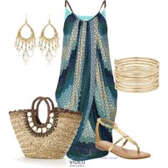 A fashion look from April 2014 featuring blue dress, straw handbags and cuff jewelry. Browse and shop related looks. Straw Handbags, Cuff Jewelry, Blue Dresses, New Look, Straw Bag, Summertime, Fashion Looks, Rock, My Style