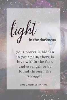 Finding Your Light in The Darkness – Megan Hallman Sensitive People, Highly Sensitive, What Happened To You, Psychic Abilities, Healer, Finding Yourself, Dark, Soul Searching, Darkness