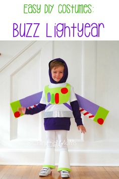 Easy DIY Toy Story Costumes: diy Buzz lightyear costume, diy slinky dog costume, diy Bo Peep, DIY toy story alien and DIY Woody costume. All no sew toy story costumes, costume ideas for Mickey's Not So Scary Halloween party Easy Diy Costumes, Cheap Halloween Costumes, Cool Costumes, Costumes For Women, Halloween Party, Scary Halloween, Costume Ideas, Woody Costume, Buzz Lightyear Costume