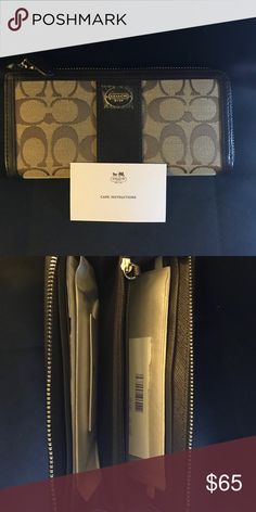 Coach wallet Canvas & leather wallet Coach Bags Wallets