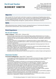7 Pre K Teacher Resume 6 How To Make Resume, Teacher Resume Template, Facility Management, Learning Environments, Resume Examples, Printable Worksheets, Human Resources, Curriculum, Physics