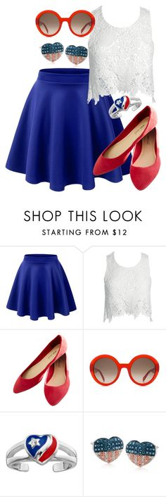 """R.N.W. ^^"" by deedee-pekarik ❤ liked on Polyvore featuring LE3NO, Sans Souci, Wet Seal, Alexander McQueen, Ross-Simons, white, red and navy"