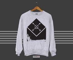 Bohemian Abstract Arrows Graphic Sweatshirt Jumper