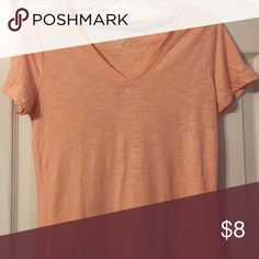 Pink v-neck tee Cotton long v-neck tee Mossimo Supply Co. Tops Tees - Short Sleeve