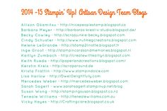 2014-15 Artisan Blogs Quick Reference Guide. Cardmaking, Stampin Up, Artisan, Paper Craft, Cards, How To Make, Blog, Crafty, Tips
