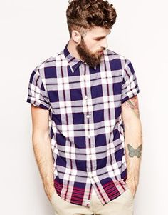 Denim & Supply Ralph Lauren Shirt with Check and Short Sleeves | ASOS