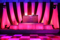 Pink sparkle DJ Booth at the National Portrait Gallery for BET's Network Honors After Party, decor by Syzygy Event Productions  www.SyzygyEvents.com  www.Facebook.com/SyzygyEventProductions
