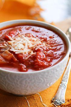 Chunky Tomato Basil Soup   theroastedroot.net #healthy #recipe #vegetarian #paleo