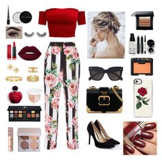 """♥️"" by katmargoo on Polyvore featuring Dolce&Gabbana, JustFab, Prada, CÉLINE, Tory Burch, Max Factor, Christian Louboutin, Puma, Anastasia Beverly Hills and Bobbi Brown Cosmetics"