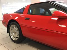 1996 Corvette LT4 in Torch Red with Light Beige interior and only 9,543 miles on the odometer!