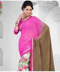 Chiffon Saree with Blouse   I found an amazing deal at fashionandyou.com and I bet you'll love it too. Check it out!