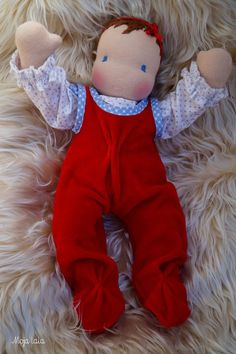 Baby Waldorf doll. Cloth Waldorf Doll 12.20 inch. by Mojalala